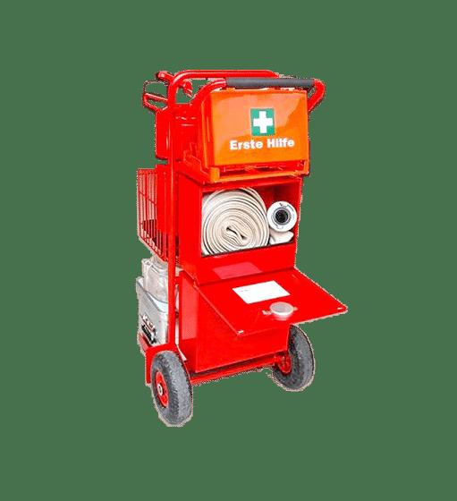 Sac de secours équipé à roulettes | SAFECADDY